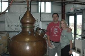 150 gallon still at Limestone Distillery