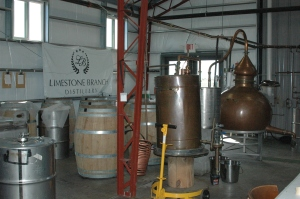 A micro-distillery.  This is the entire operation!