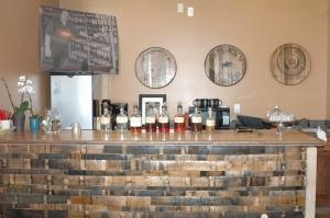 tasting room at Limestone Distillery