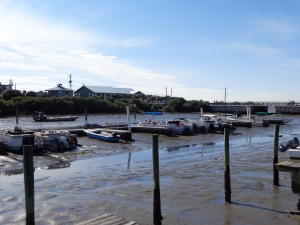 low tide - lots of mud