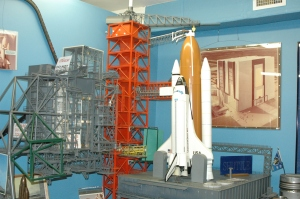 model of space shuttle launch pad