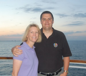 sunset on the cruise