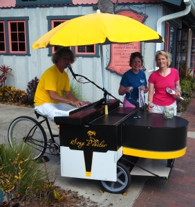 piano peddle cart
