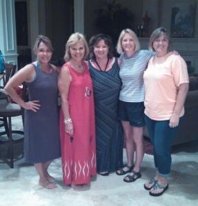 Elaine, Mary Jo, Cindy, me and Terri