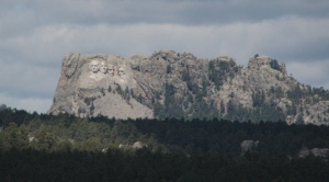 1st glimpse of Mt Rushmore