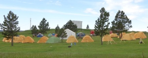 Boy Scouts tent camping