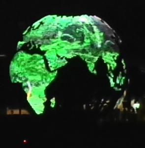 glowing globe of Earth