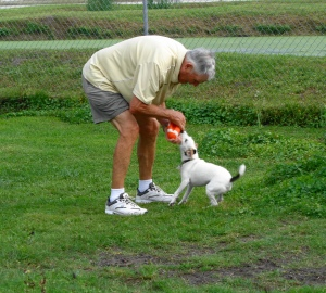tug-a-war with Gramps