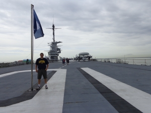 Dan on flight deck