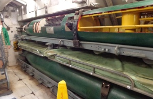 Torpedo and bunks underneath