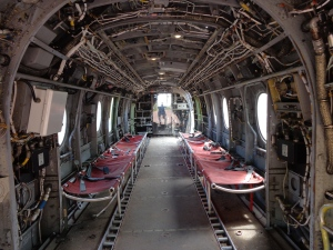 inside of helicopter