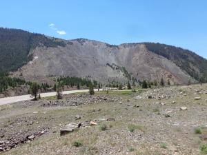 area of landslide